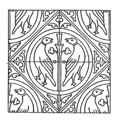 medieval tile pattern is a oldest process vintage vector image
