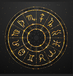 Modern magic witchcraft astrology golden wheel vector
