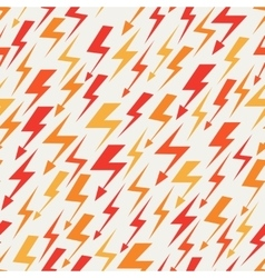orange red and yellow lightnings seamless pattern vector image