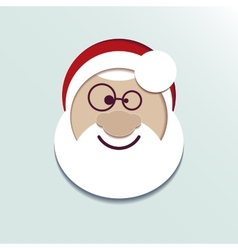 Paper head Santa Claus vector