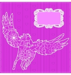 Pink backdrop with pegasus vector