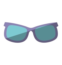 Purple and blue sunglasses accessorie travel vector