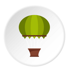 red aerostat balloon icon circle vector image