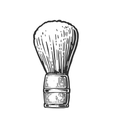 Shaving brush black on white vector