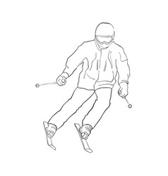 skiing man vector image