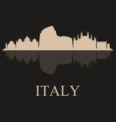 skyline italy vector image