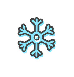 snowflake christmas icon vector image