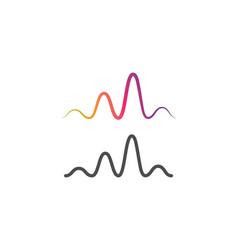 sound wave music logo vector image