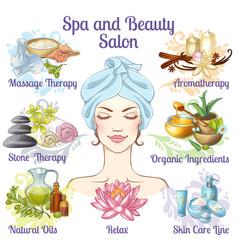 Spa salon composition vector