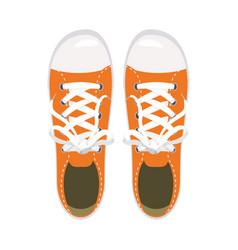 sports shoes gym shoes keds orange colors for vector image