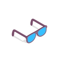 Sunglasses icon in isometric 3d style vector