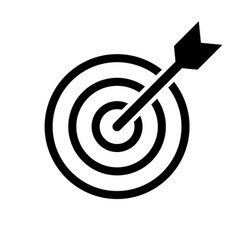target isolated icon vector image