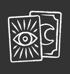 Tarot cards chalk icon tarocchi tarock oracle vector