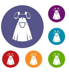 traditional bavarian dress icons set vector image