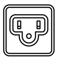 Type b power socket icon outline style vector