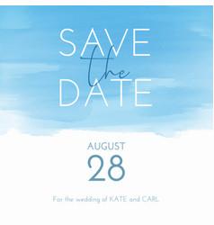 watercolour save date invitation vector image