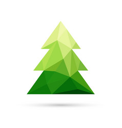 Abstract christmas tree made of triangles vector image vector image