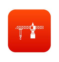 crane icon digital red vector image vector image