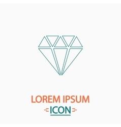 Diamond computer symbol vector