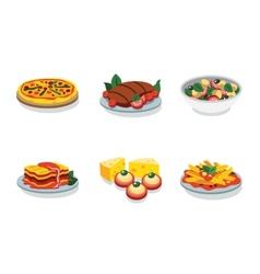 Italian food flat icon vector image