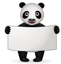 panda cartoon vector image