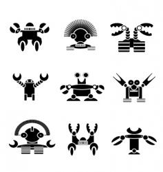 robot monster vector image vector image