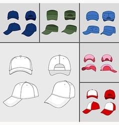 street fashion clothing 13 vector image vector image