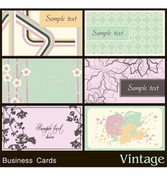 Business card with vintage background vector image vector image