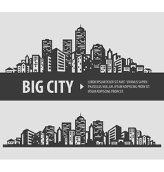 city and town logo design template vector image vector image