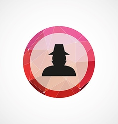 detective circle pink triangle background icon vector image