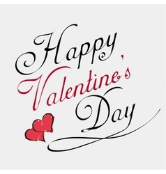 happy valentines day lettering card vector image