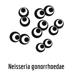 neisseria gonorrhoedae icon simple style vector image vector image