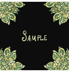 Template for menu greeting card invitation or vector image