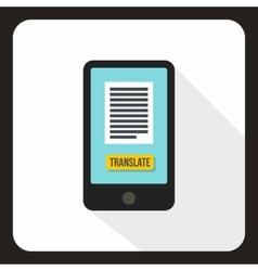Translator on phone icon flat style vector image vector image
