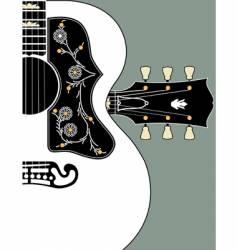 acoustic guitar-bg-w-headstock vector image vector image