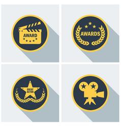 cinema awards set vector image
