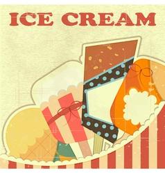 Ice Cream Retro color vector image vector image