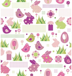 seamless pattern for easters design vector image