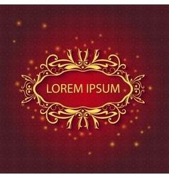 Shiny greeting ornamental card pattern lights vector image vector image