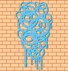 Smudged Graffiti vector image
