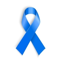Blue ribbon Peace dysautonomia and other vector image vector image