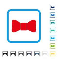 bow tie framed icon vector image
