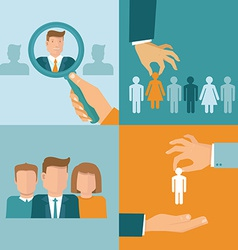 business and employment concepts in flat style vector image vector image