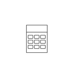 calculator line icon vector image vector image
