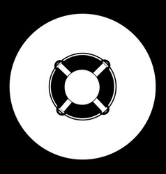 lifebuoy ring simple black isolated icon eps10 vector image