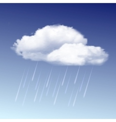 Raincloud and rain in the blue sky vector image vector image