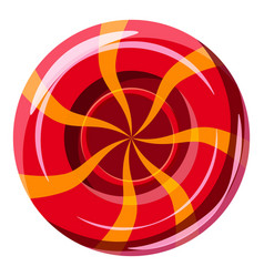 red sweet lollipop candie icon cartoon style vector image