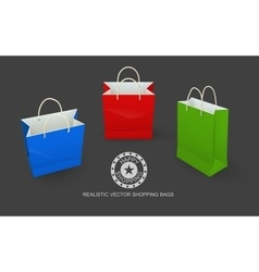 Shopping bags paper packaging vector image vector image