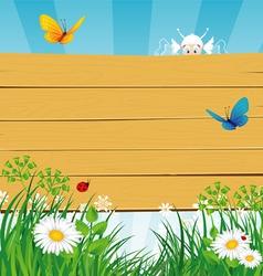 summer wood vector image vector image