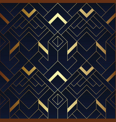 Abstract geometric pattern luxury dark blue with vector